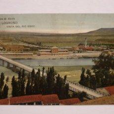 Postales: LOGROÑO - VISTA DEL RÍO EBRO - P50365. Lote 257349330