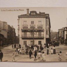 Postales: GIJÓN - CALLE CORRIDA Y DE LOS MOROS - VENTA EN EL BAZAR PALACIOS Y LIBRERÍA MANSO - P50369. Lote 257350310