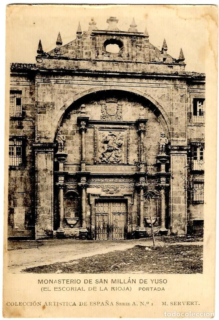 MONASTERIO DE SAN MILLÁN DE YUSO (LA RIOJA) - PORTADA - COL. ART. DE ESPAÑA - M- SERVERT - INÉDITA (Postales - España - La Rioja Antigua (hasta 1939))