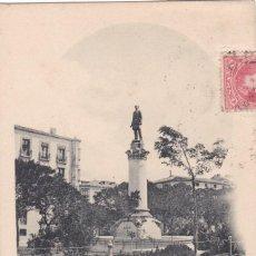 Postales: LOGROÑO, ESTATUA DE SAGASTA. ED. HAUSER Y MENET HIJOS DE ALESON. REVERSO SIN DIVIDIR. CIRCULADA. Lote 261846810