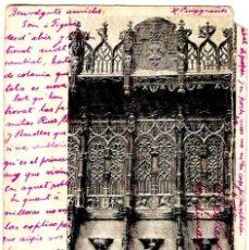 Postales: NÁJERA - SANTA MARÍA LA REAL - DETALLE DEL CORO ALTO - 142X100 MM.. Lote 262714330
