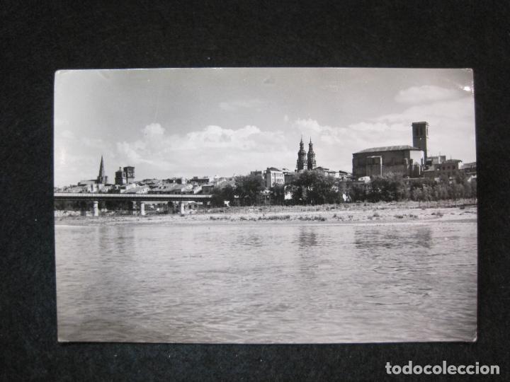 LOGROÑO-VISTA PARCIAL Y RIO EBRO-EDICIONES SICILIA-12-POSTAL ANTIGUA-(81.322) (Postales - España - La Rioja Antigua (hasta 1939))
