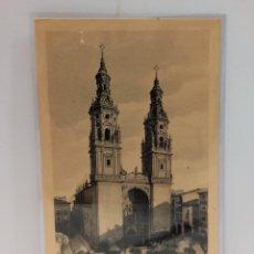 Postales: LOGROÑO (LA RIOJA) - TORRES DE LA REDONDA. POSTAL PUBLICIDAD DIA DEL VINO 1932. PTC. CON FUNDA.. Lote 279525363