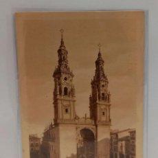 Postales: LOGROÑO (LA RIOJA) - TORRES DE LA REDONDA. POSTAL PUBLICIDAD DIA DEL VINO 1932. PTC. CON FUNDA.. Lote 279528948