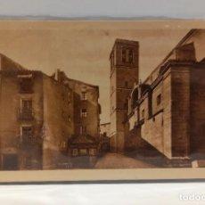 Postales: LOGROÑO (LA RIOJA) - IGLESIA Y FUENTE DE SANTIAGO. POSTAL PUBLICIDAD DIA DEL VINO (1932). PTC. FUNDA. Lote 279549908