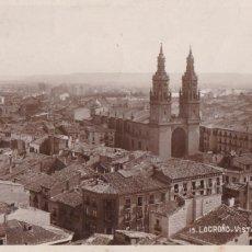 Cartoline: LOGROÑO, VISTA PARCIAL. POSTAL FOTOGRAFICA ESCRITA EN 1936. Lote 286349038