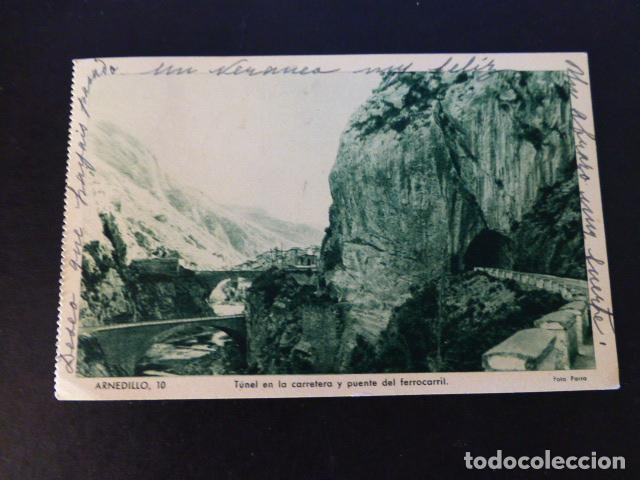 ARNEDILLO LA RIOJA TUNEL Y PUENTE FERROCARRIL (Postales - España - La Rioja Antigua (hasta 1939))