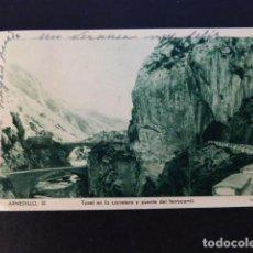 Postales: ARNEDILLO LA RIOJA TUNEL Y PUENTE FERROCARRIL. Lote 286745973