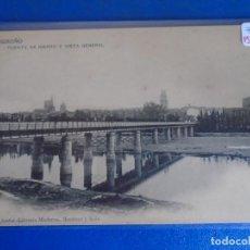 Postales: (PS-66530)POSTAL DE LOGROÑO-PUENTE DE HIERRO Y VISTA GENERAL.LIBRERIA MODERNA. Lote 293917903