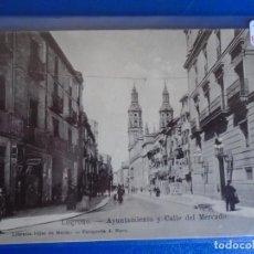 Postales: (PS-66533)POSTAL DE LOGROÑO-AYUNTAMIENTO Y CALLE DEL MERCADO.HIJOS DE MERINO. Lote 293918243