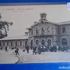 Postales: (PS-66535)POSTAL DE LOGROÑO-ESTACION DEL NORTE.FOTO L.ROISIN. Lote 293918603