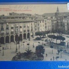 Postales: (PS-66540)POSTAL DE LOGROÑO-PLAZA DE LA CONSTITUCION.LIBRERIA MODERNA. Lote 293919053