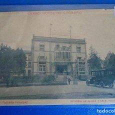 Postales: (PS-66542)POSTAL DE LOGROÑO-GRAND HOTEL.FACHADA PRINCIPAL.FOTOTIPIA HAUSER Y MENET. Lote 293919258