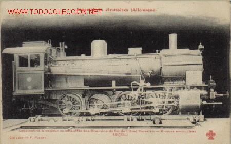 TARJETA POSTAL DE LES LOCOMOTIVES ÉTRANGÈRES (ALLEMAGNE)-COLLECTION F. FLEURY) (Postales - Postales Temáticas - Trenes y Tranvías)