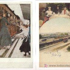 Postales: ALEMANIA FERPHILEX 85 SERIE 3 DEUTSCHLAND - JUEGO POSTALES DE TRENES - AÑO 1985. Lote 23170631