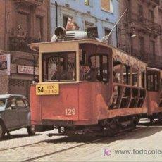 Postales: + TRANVIA BARCELONA 129 FERROCARRIL TREN. Lote 6318203