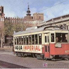 Postales: + TRANVIA BARCELONA 517 FERROCARRIL TREN. Lote 6318209