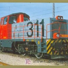 Postales: 7F-769. LOCOMOTORA DIESEL 311-135-8. VILLAVERDE BAJO (MADRID). 3-91. Lote 6513981