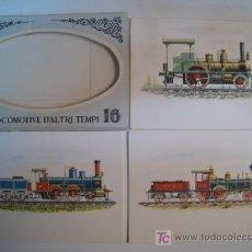 Postales - LOCOMOTORAS - ALBUM 16 POSTALES ILUSTRADAS - 8629753