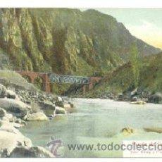 Postales: POSTAL MENDOZA .. PUENTE CACHEUTA .. FERROCARRIL. Lote 26735709