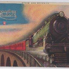Postales: POSTAL DE TREN BROADWAY LIMITED PENNSYLVANIA RAILROAD. Lote 12809206