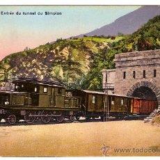 Postales: ANCIENNE CARTE POSTALE 158 BRIGUE ENTRÉE DU TUNNEL DU SIMPLON CIRCULÉE 1922. Lote 15062579