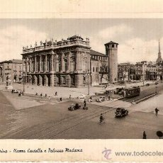 Postales: ANTIGUA POSTAL ITALIA TURIN PIAZZA CASTELLO E PALAZZO MADAMA 1952. Lote 15256767