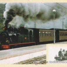Postales: POSTAL FERROCARRIL OLOT A GIRONA - TREN TURISTICO FGC CON LOCOMOTORA 22. Lote 10116919