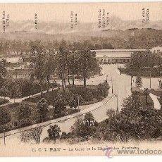 Postales: CARTE POSTALE C.C. 7 PAU LA GARE ET LA CHAINE DES PYRÉNÉES CARRACHE EDIT. Lote 10298748