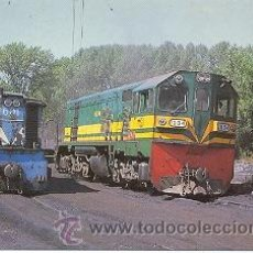 Postales: 7F-416. FERROCARRIL PONFERRADA-VILLABLINO. MAQUINA 601 Y 1004. Lote 23178391
