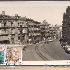 Postales: POST 241 - CALLE CON TRANVÍA - FOTO ROISIN - POSTAL CIRCULADA PAISAJE URBANO CON TRANVÍA. Lote 23073078