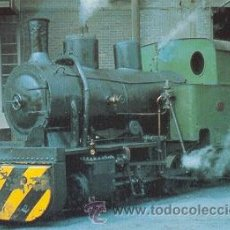 Postales: 7F-1666. ALTOS HORNOS DE VIZCAYA. LOCOMOTORA VAPOR 0-2-0T. SESTAO. Lote 96611744