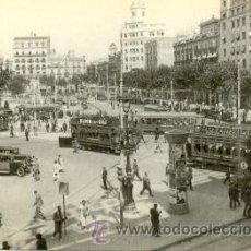 Postales: 7F-1844. TRAMVIES A LA PLAÇA CATALUNYA DE BARCELONA. Lote 15687372