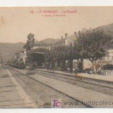 Postales: LA GARRIGA. LA ESTACIÓ DEL FERROCARRIL. (L. ROISIN). Lote 14798344