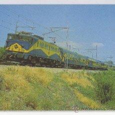 Postales: TARJETA POSTAL TREN RAPIDO DE COCHES 9.000 LOCOMOTORA 269 ENTRE AVILA Y MADRID TRENES RENFE . Lote 14889602