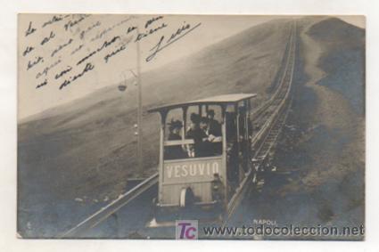 POSTAL FOTOGRÁFICA DEL FUNICULAR DEL VESUBIO, NAPOLI. (Postales - Postales Temáticas - Trenes y Tranvías)
