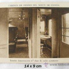 Postales: POSTAL ANTIGUA CAMINOS DE HIERRO DEPARTAMENTO DE SEGUNDA. Lote 26399847