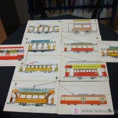 Postales: 10 POSTALES DE TRANSPORTES DE BARCELONA (TRANVIAS-AUTOBUSES). Lote 19949022