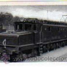 Postales: POSTAL FERROCARRILES ESPAÑOLES LOCOMOTORA PARA TRENES RAPIDOS AÑO 1947. Lote 17626481