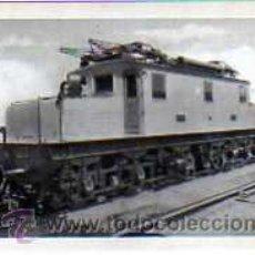Postales: POSTAL FERROCARRILES ESPAÑOLES LOCOMOTORA ELECTRICA SERIE 6100 DE COMPAÑIA DEL NORTE. Lote 17626506