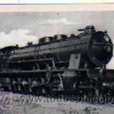 Postales: POSTAL FERROCARRILES ESPAÑOLES LOCOMOTORA TIPO MONTAÑA DE M.Z.A. CONSTRUIDA EN 1928. Lote 17626515
