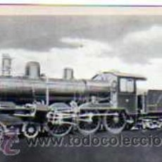 Postales: POSTAL FERROCARRILES ESPAÑOLES LOCOMOTORA COMPOUND CONSTRUIDA EN 1903 PARA M.Z.A.. Lote 17626544