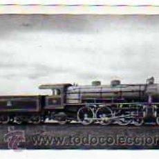Postales: POSTAL FERROCARRILES ESPAÑOLES LOCOMOTORA TIPO PACIFIC DE M.Z.A. CONTRUIDA EN 1920. Lote 17626553