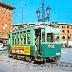 Postales: 7F-2002. POSTAL TRAM-VIES DE BARCELONA. COTXE 886. P. DE ESPAÑA. Lote 18724747