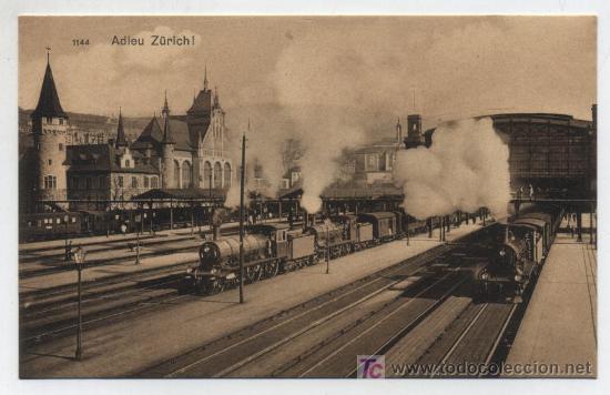 ZURICH. ESTACIÓN CENTRAL. (Postales - Postales Temáticas - Trenes y Tranvías)