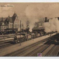Postales: ZURICH. ESTACIÓN CENTRAL.. Lote 19134029
