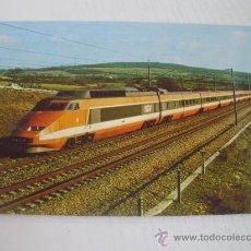 Postales: TREN DE GRAN VELOCIDAD (TGV) FRANCIA - AÑO 1.981. Lote 21365380