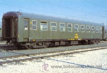 7F-2240. POSTAL. COCHE DE VIAJEROS 2ª CLASE. BELLVITGE (CASA ANTUNEZ) (Postales - Postales Temáticas - Trenes y Tranvías)