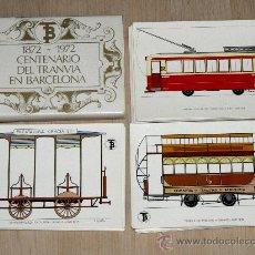 Postales: 1872-1972. CENTENARIO DEL TRANVIA EN BARCELONA. COLECCIÓN DE 56 POSTALES. Lote 21680734
