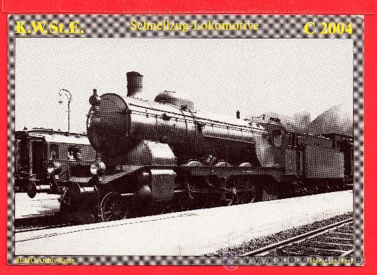 POSTAL DE TRENES TRANVIAS K. W. ST. E. Nº C 2004 EDICION JUNGELS SIN CIRCULAR (Postales - Postales Temáticas - Trenes y Tranvías)